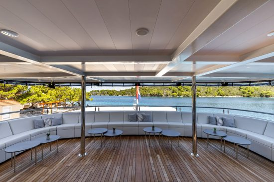 Outdoor lounge onboard MS My Wish